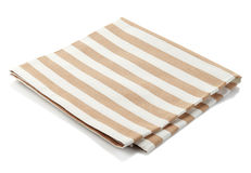 Cotton napkin. Striped cotton napkin isolated on white background Stock Image