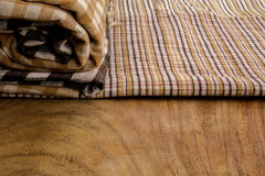 Cotton, natural dyes, wood floors, surfaces, cotton. Royalty Free Stock Images