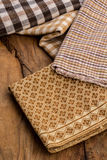 Cotton, natural dyes, wood floors, surfaces, cotton. Stock Photo