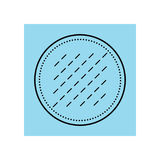 Cotton pad. Flat icon of hygiene products. Object for design Royalty Free Stock Photo