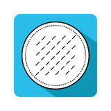 Cotton pad. Flat icon of hygiene products. Object for design Royalty Free Stock Photography