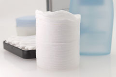 Cotton Pads and sticks Royalty Free Stock Photography