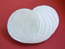 Cotton pads. The cotton pads for toilette Royalty Free Stock Photo