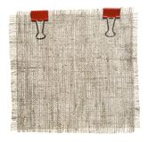 Cotton Patch With Red Clips Stock Photography