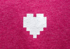 Cotton pattern texture with heart screen Stock Image