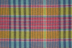 Cotton plaid fabric pastel colors Stock Photo
