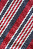 Cotton with red, blue and white stripes Stock Photo