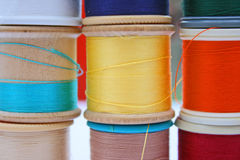 Cotton reels Stock Photography