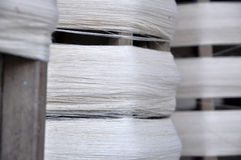 Cotton Roll Thread Wood Royalty Free Stock Photography