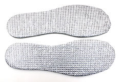 Cotton shoe insoles isolated. On white background stock photo