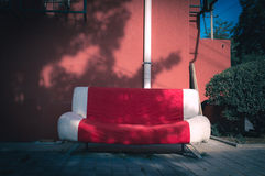 Cotton sofa Stock Image