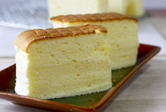 Cotton Soft Cheese Cake Stock Photo