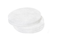 Cotton sponges isolated on white background. Design for the beauty, medicine and cosmetics industry Stock Photos
