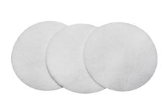 Cotton sponges isolated on white background. Design for the beauty, medicine and cosmetics industry Royalty Free Stock Photos