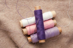 Cotton spools Royalty Free Stock Photos