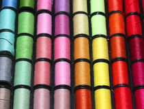 Cotton spools. Spools of Thread Close-up royalty free stock image