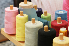 cotton spools Royalty Free Stock Photo