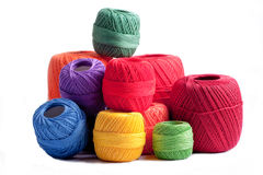 Cotton spools Royalty Free Stock Photography
