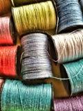 Cotton spools Royalty Free Stock Photo