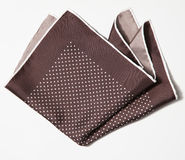 Cotton squared brown handkerchief Royalty Free Stock Photography