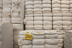 Cotton Stacked In Spinning Factory  Royalty Free Stock Image