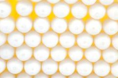 Cotton stick 1. Closeup of lots of yellow cotton sticks Stock Image