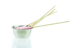 Cotton stick with chlorhexidine for cleaning Royalty Free Stock Photo