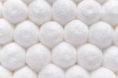 Cotton sticks close-up background texture.  Stock Images