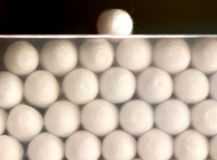 Cotton sticks , close up. Picture of a Hygiene Cotton sticks , close up Stock Image