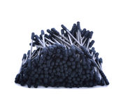 Cotton sticks,cotton wool,black-color on white background. Royalty Free Stock Images