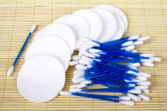 Cotton sticks and pads Stock Image