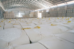 Cotton storage Stock Photo