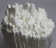 Cotton swab in bottle Stock Images