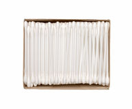 Cotton swab package for cleaning ear Stock Photo