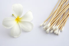 Cotton swab used for cleaning ear Stock Images