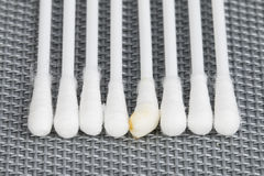 Cotton swab. Royalty Free Stock Image