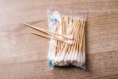 Cotton swabs Stock Image