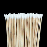 Cotton swabs isolated. On black background Stock Photos