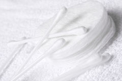 Cotton swabs and pads Royalty Free Stock Image