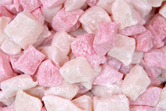 Cotton sweets. Small cotton sweets sell in the market stock image