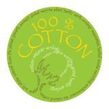 Cotton symbol. Ecology concept was created with typographic design Royalty Free Stock Photography