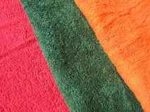 Cotton terry towels Stock Images