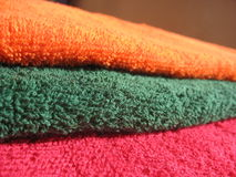 Cotton terry towels Stock Image