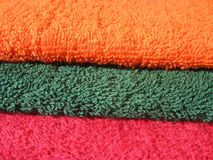 Cotton terry towels Royalty Free Stock Photos