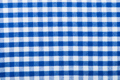 Cotton  texture blue checkered Royalty Free Stock Images