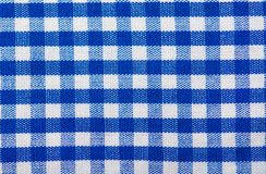 Cotton  texture blue checkered Royalty Free Stock Photography