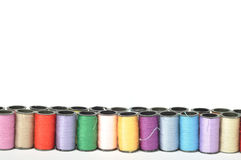 Cotton thread bobbins Stock Photography