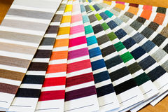 Cotton Thread Color Samples Fanned Out Royalty Free Stock Photo