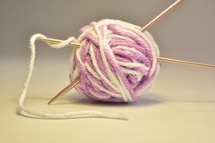 Cotton thread for knitting. Cotton thread for crocheting colored multi colored yarn Stock Photos