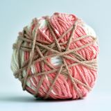 Cotton thread for knitting. Cotton thread for crocheting colored multi colored yarn Stock Photography